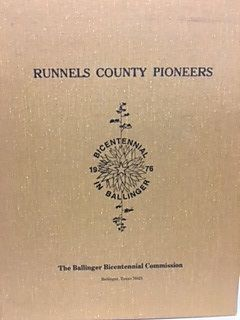 RUNNELS COUNTY PIONEERS