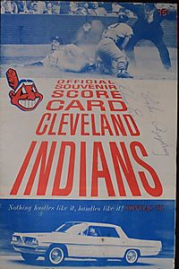Cleveland Indians official souvenir score card (1961)