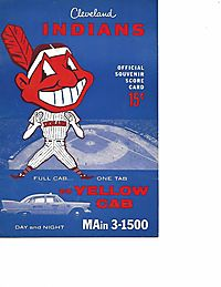 Cleveland Indians official souvenir score card (1958)