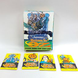 Topps Return to Oz bubble gum cards