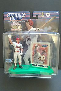 MARK MCGWIRE / ST. LOUIS CARDINALS 2000 Commemorative MLB Starting Lineup Action Figure, Display Stand & Exclusive Collector Trading Card