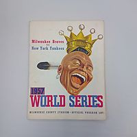 1957 World Series Milwaukee County Stadium Official Program